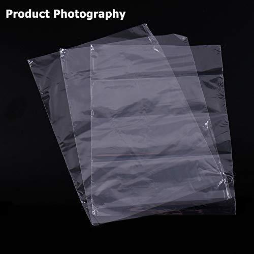 300 piezas Bolsas termorretr/áctiles CNYMANY 10x16 13x19 14x25 cm 3 Tama/ños Envoltura de pel/ícula termoencogible transparente e inodoro para el proyecto de bricolaje casero Embalaje Jab/ón Vela Tarro