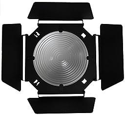 Barndoor with Fixed Focus 8 Inch Fresnel Lens