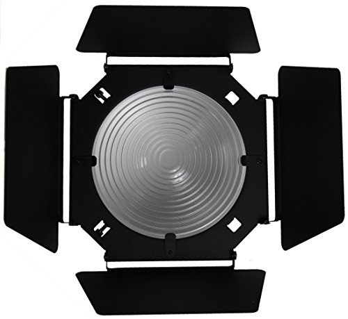 Barndoor with Fixed Focus 8 Inch Fresnel Lens by ALZO Digital