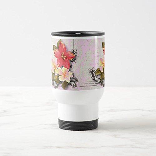 Hawaii White Mug (Feddiy Tumbler-Stainless Steel Travel Mug,14 oz Funny Coffee Mug-hawaii hibiscus White 14 oz)