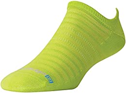 Hyper Thin Running Green No Show Socks Dmx run 1242