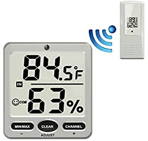 Ambient Weather WS-07 Big Digit 8-Channel Wireless Thermo-Hygrometer