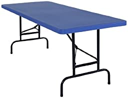 National Public Seating BTA3072 Series Steel Frame Rectangular Adjustable Height Plastic Top Folding Table, 1000 lbs Capacity, 72\
