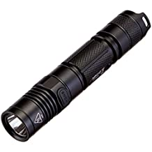 NiteCore MH12 USB Rechargeable Flashlight CREE XM-L2 U2 1000 Lumens 253 Yard Beam Distance 520 Hours Runtime Portable Tactical Flashlight Waterproof Compact Searchlight With NL188 3200mAh 18650 Battery, Black