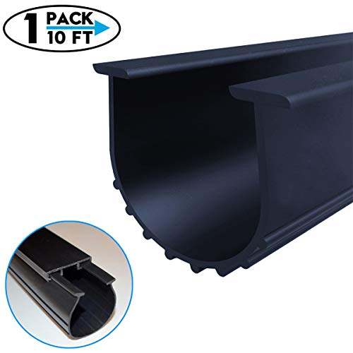 Garage Door Bottom Weather Stripping Kit Rubber Seal Strip Replacement, Universal Sealing Professional Grade T Rubber,5/16