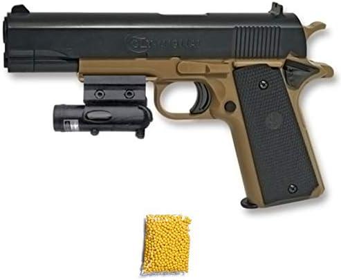 Colt MK IV Cybergun Pistola de Airsoft Calibre 6mm (Arma Aire Suave de Bolas de plástico o PVC). Sistema: Muelle. <3,5J