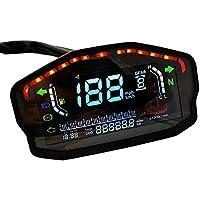 Velocímetro de Motocicleta LED Universal, Kilometraje / 1-6Gear
