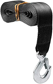 """CarBole Trailer Winch Replacement Strap 2"""" x 20' and Safety Hook for Large Boats, Jet Ski, Wave Runne"""