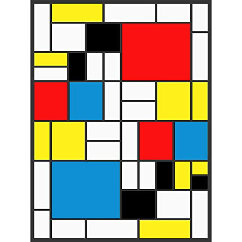 PIET MONDRIAN ABSTRACT CUBES SQUARES OLD MASTER ART PAINTING PRINT 2573OMLV