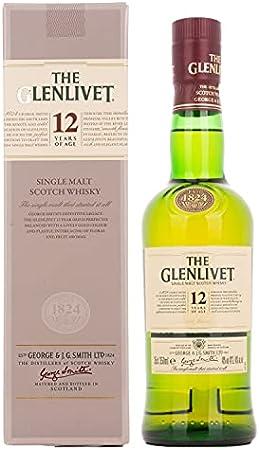 Glenlivet 12 Years Old Pure Single Malt Scotch Whisky - 350 ml