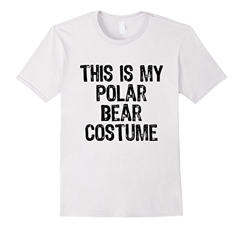 Mens This Is My Polar Bear Costume Halloween Cute T-Shirt Large (Polar Bear Costume Diy)