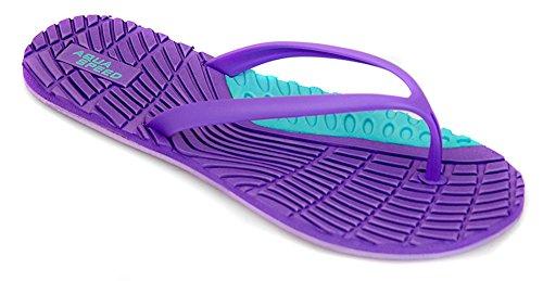 AQUA-SPEED® BAHAMA Chanclas (36-41 Mujer Playa) Farbe 09 / Violet-Türkis