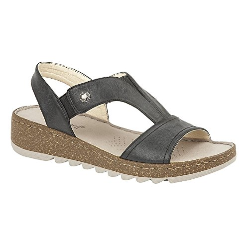 Boulevard Womens/Ladies Elasticated Halterback Sandal Bronze vcw2jP