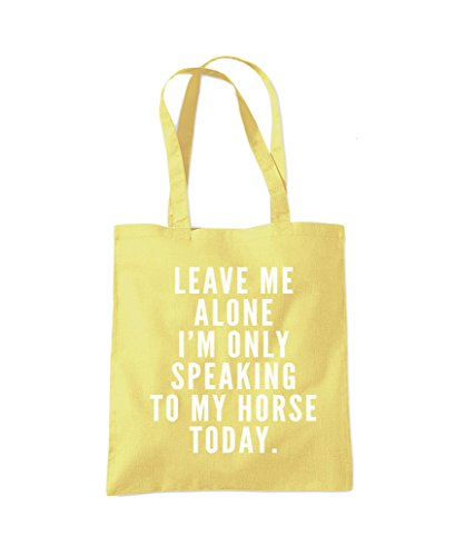 I'm To Leave Talking Alone Fashion Tote Shopper Me Only Yellow My Lemon Horse Bag pwEqH1TqWx