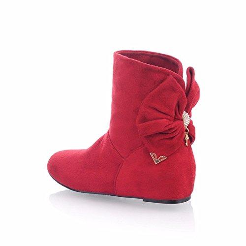 coreanos una Los tamaño botas gules scrub Señora estudiantes dulce botas pCw7Z5q