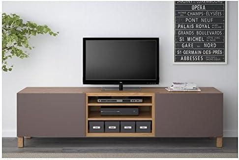 IKEA BESTA - Mueble TV con efectos cajones Roble / valviken marrón oscuro: Amazon.es: Hogar