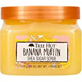 Tree Hut Banana Muffin Shea Sugar Scrub 18 Oz! Formulated With Real Sugar, Certified Shea Butter And Banana Extract! Exfoliat