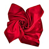 Pure Color Neckerchief Clothing Accessories Square Scarf Fashion Deep red