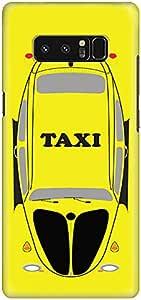 حافظة سناب رفيع بتصميم مطفي لهاتف سامسونج نوت 8 من ستايلايزد - تاكسي أصفر