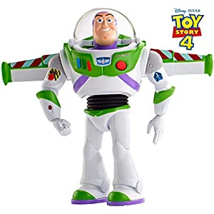 41UGmjmABjL. SS300  - Disney Pixar Toy Story Ultimate Walking Buzz Lightyear, 7 in Tall Figure with 20+ Sounds and Phrases, Walking Motion and…