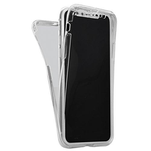 Vandot para iPhone X / 10 Ultra Thin Smart Cover 360 ° Grados Carcasa Delantera y Trasera Cristal Full Body Funda Protectora de TPU Dos Piezas Transparente Cubierta de la Caja del parachoques para Sma QBTPU 01