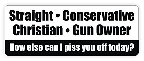 1-Pc Excelling Popular Straight Conservative Christian Gun Owner Car Stickers Bumper Label Windows Decor Bumper Size 3