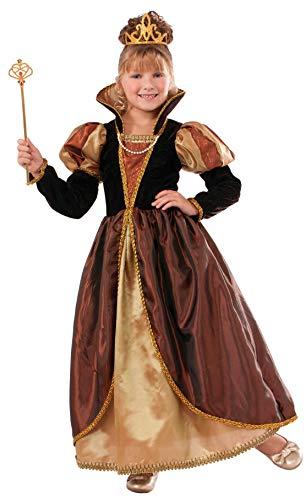 Forum Novelties Designer Collection Deluxe Golden Queen Costume Dress, Child Small -