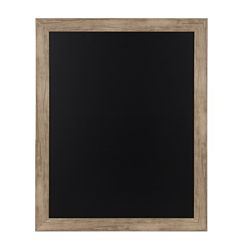 DesignOvation Beatrice Framed Magnetic Chalkboard, 23x29, Rustic - Brown Beatrice