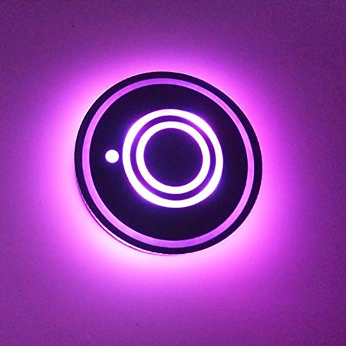 Nihlsfen Creative LED Car Cup Mat Anti-Slip Cup Mat Car Interior Decoration Colorful Atmosphere Light USB Rechargeable LED Cup Coaster