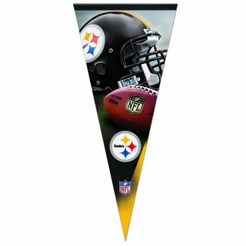 NFL Pittsburgh Steelers 17-by-40 inch Premium Pennant at Steeler Mania
