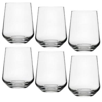 Iittala Gläser iittala essence wasser gläser set 6tlg transparent 35cl amazon de