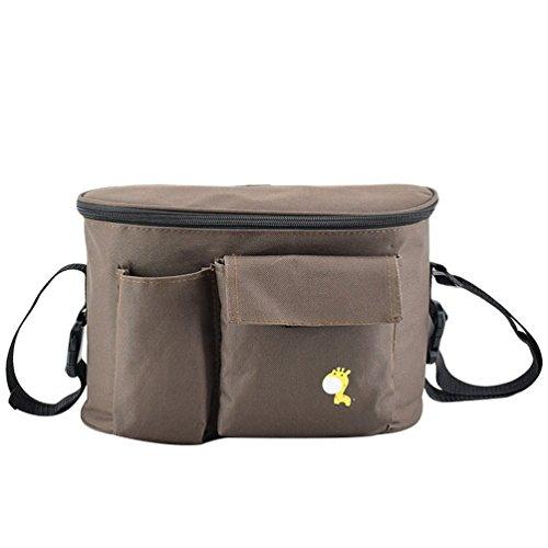 Army Green #1, 30 * 15 * 19.5cm Jitong Printed Stroller Organisers Pram Bag for Mom Large Capacity Crossbody Baby Pushchair Storage Bags