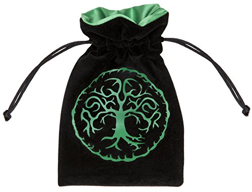 Forest Black & green Velour Dice Bag by Dice set