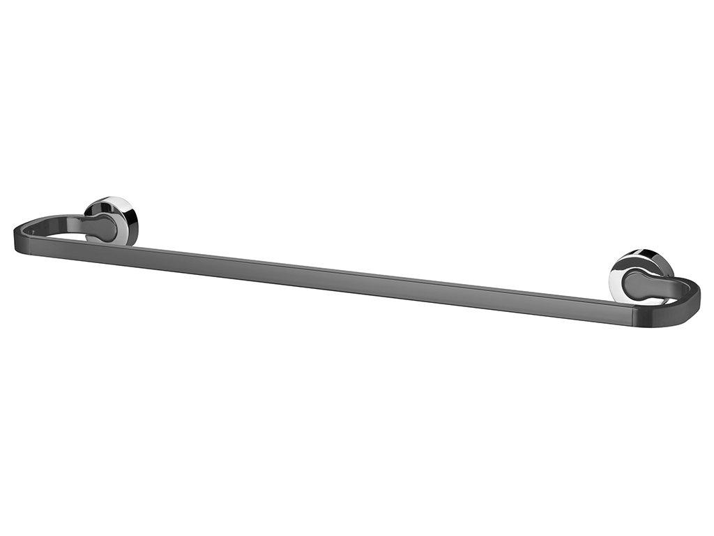 Bisk Ventura Towel Bar/Rail 62cm-Chrome and Grey on Zinc-61.8x5x9.7cm # 05332