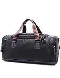 Womleys Leather Travel Duffle Tote Bag Handbag Weekend Overnight Luggage Gym Bag