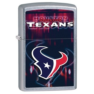 Zippo NFL Houston Texans Street Chrome Pocket Lighter