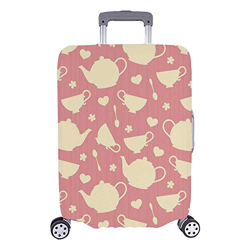 Tea Party Simple Luggage Cover,White Teapots with Cute for sale  Delivered anywhere in USA
