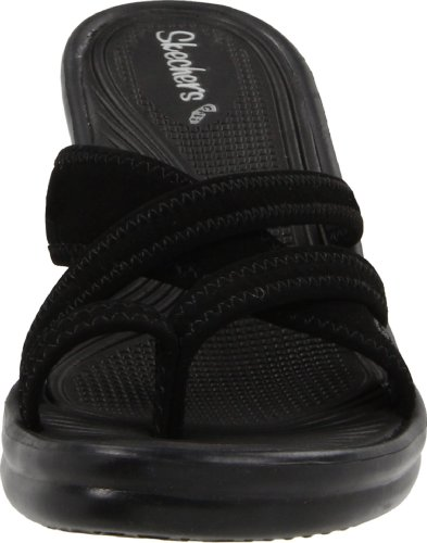 Black Rumblers People Sandal Cali Wedge Beautiful Women's Skechers 87q0B