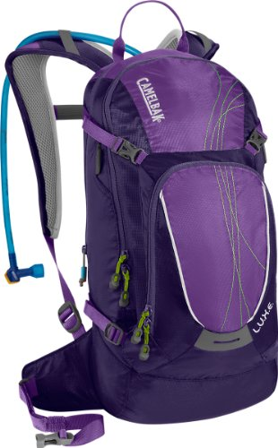 Camelbak Products Women's L.U.X.E. Hydration Backpack, 100-Ounce, Parachute Purple/Royal Purple, Outdoor Stuffs