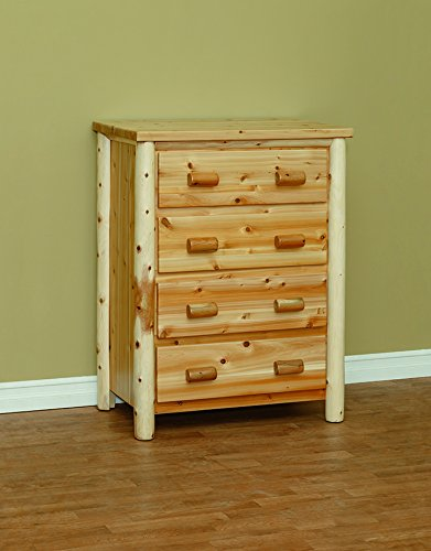 (White Cedar Classic 4 Drawer Chest)