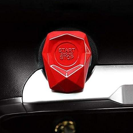 Universal Auto Motor Startknopf Abdeckung Auto Suv Ein Schlüssel Motor Start Stopp Druckknopf Schalter Abdeckung Dekorative Verkleidung Aufkleber Metalllegierung Baumarkt