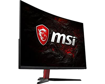 MSI Full HD Gaming Red LED Non-Glare Super Narrow Bezel 1ms 1920 x 1080 165Hz Refresh Rate FreeSync Curved Gaming Monitor