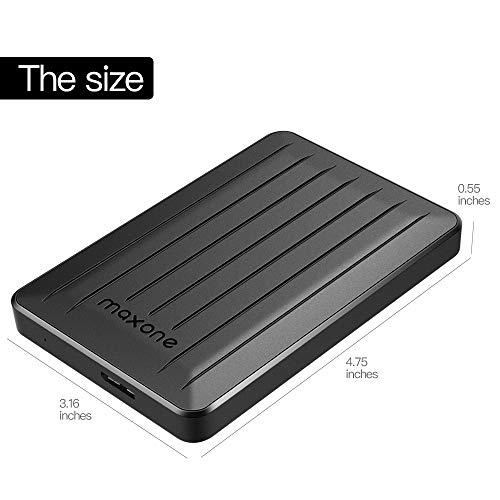 160GB Portable External Hard Drive- 2.5 Inch External Hard Drives for Laptop,Desktop,Wii U,MacBook,Chromebook (160GB, Black) by Maxone (Image #6)