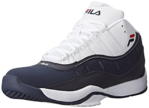 Fila Men's City Wide 2 Basketball Shoe, White/Fila Navy/Fila Red, 7 M US