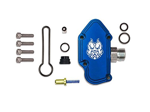 Sinister Diesel Blue Spring Kit with Billet Spring Housing - Fuel Regulator Kit - Ford Blue Spring Kit 6.0 Powerstroke - Fast Install For 2003-2007 Ford Powerstroke 6.0L