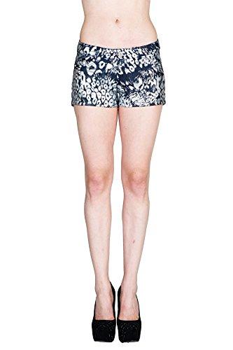 Arizona Carpenter Shorts (VIRGIN ONLY Women's Light Weight Denim Shorts (Silver Foil, Size Medium))