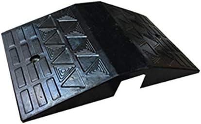 段差 スロープ 勾配閾値スロープステップアップヒルアンチスキッドパッドスリッパトライアングル木製ホイール沿いの道路 カーポート・車庫アクセサリ (色 : Black, Size : 70x40x11cm)