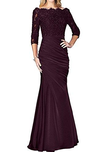 Abendkleider mia Spitze Traube Abschlussballkleider Damen La Lang Langarm Braut Etuikleider Brautmutterkleider qAwwg
