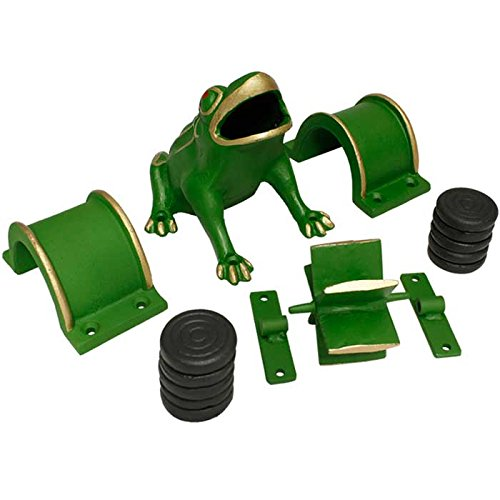 Frog Game - Toad in The Hole Game - Sapo Game. Cast Iron Components of The Frog/Sapo Game: Frog/Sapo+ 1 Mill + 2 Bridges + 10 Coins / Discs / Tokens. Traditional, Popular and Funny Game. by Cadenas