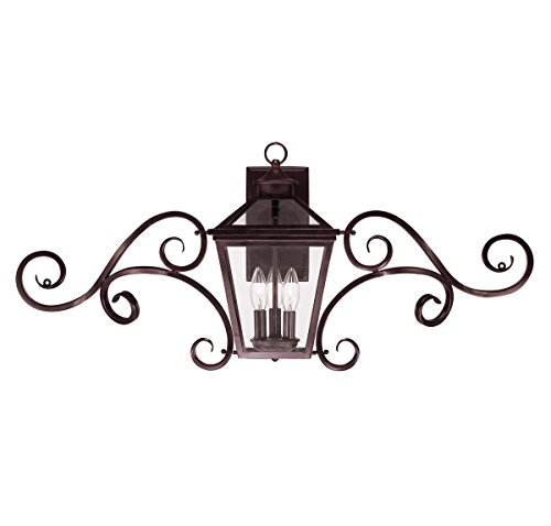 Savoy House 5-143-13 Outdoor Sconce with Clear Shades, English Bronze - English Bronze Entrance